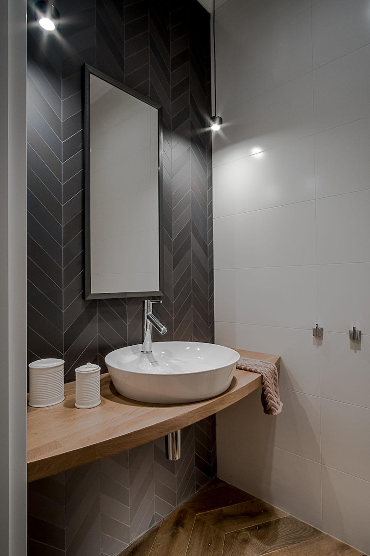 Toaleta dla gości | proj. Jacek Tryc