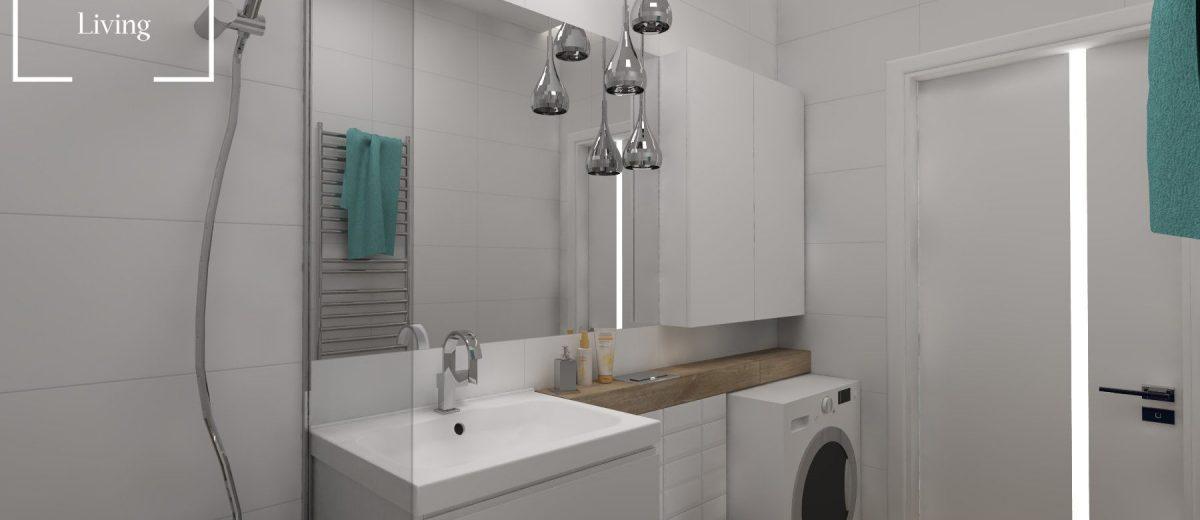 Projekt mieszkania na osiedlu Fi łazienka