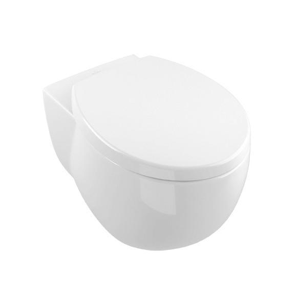 Villeroy & Boch Aveo Miska WC wisząca z odpływem poziomym 59x40 biała