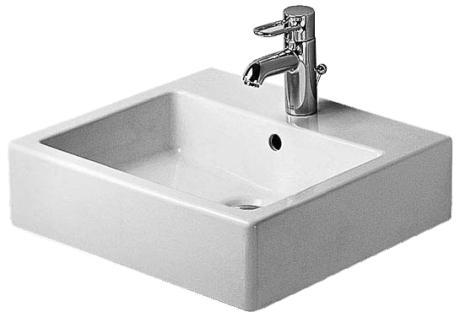 Duravit Vero Umywalka szlifowana wisząca biała 50x47
