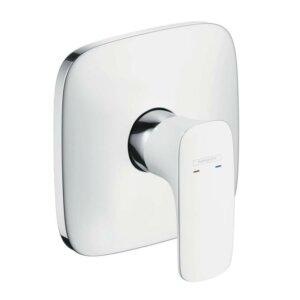 Hansgrohe PuraVida jednouchwytowa bateria prysznicowa, podtynkowa, element zewnętrzny biały/chrom