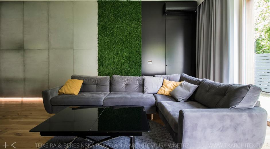zielone ściany we wnętrzu