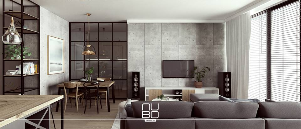 telewizor w salonie