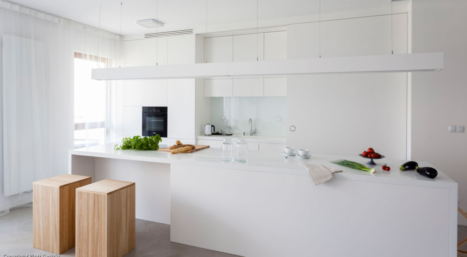 Biała kuchnia | proj. TK Architekci