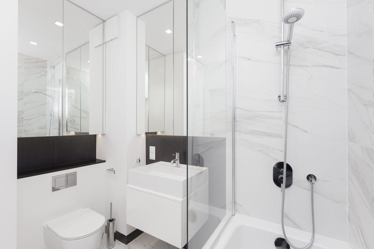 Łazienka wyposażony produktami HushLab w projekcie Patrycji Dmowskiej