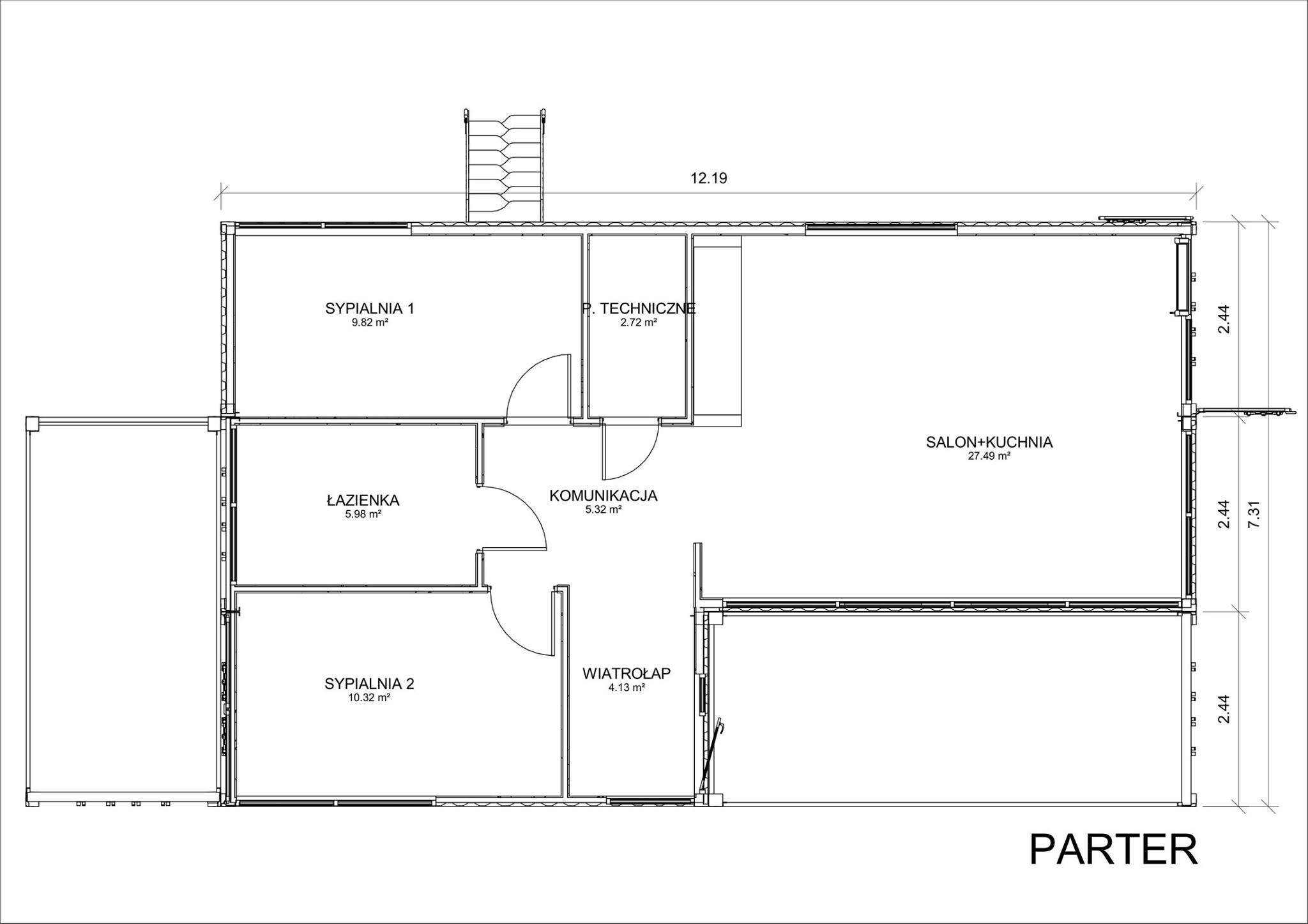 Propozycja domu z kontenerów | Proj. Flexicube