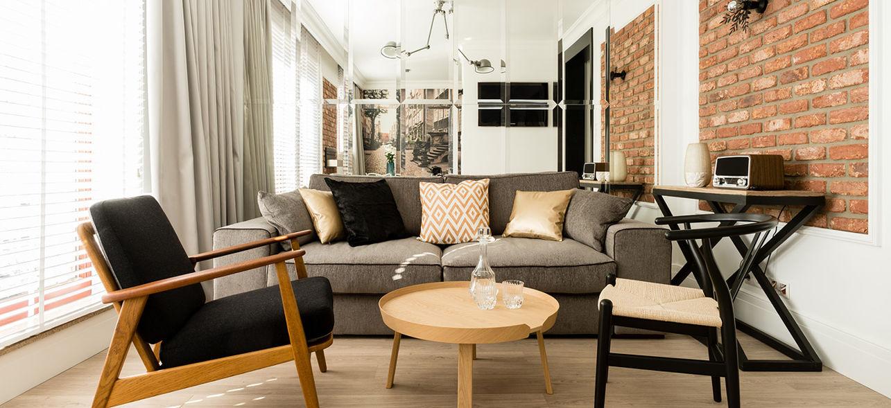 Fotel inspirowany modelem 366  w projekcie zrealizowanym przez Fabrykę Wnętrz