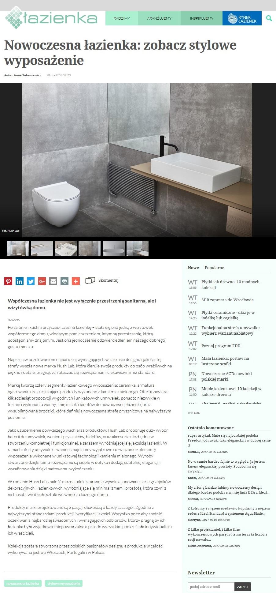 HushLab na łazienka.pl