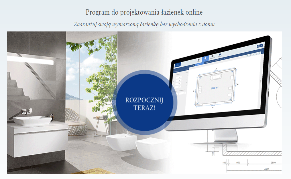 Program do projektowania łazienek online Villeroy & Boch