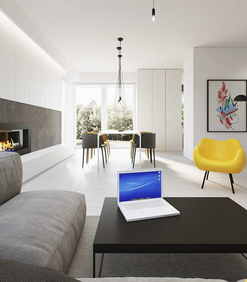 Fotel inspirowany modelem RM 58 w projekcie zrealizowanym przez 081 ARCHITEKCI