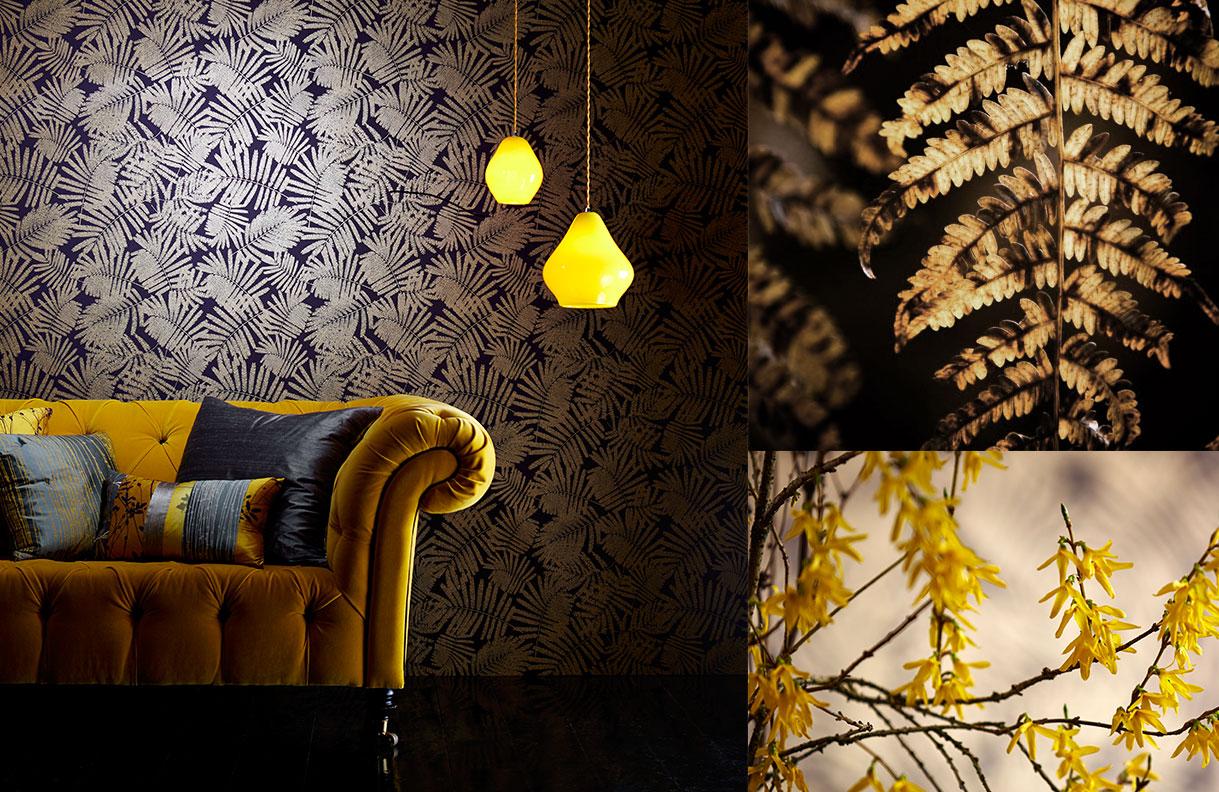Najbardziej jesienne kolory to żółcienie i pomarańcze, kolekcja Callista od Harlequin