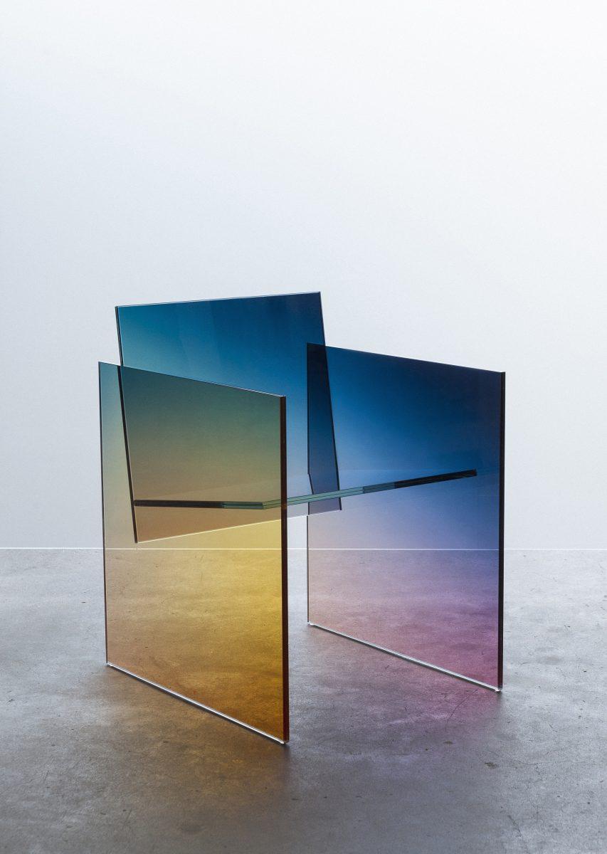 Ombré Glass Chair