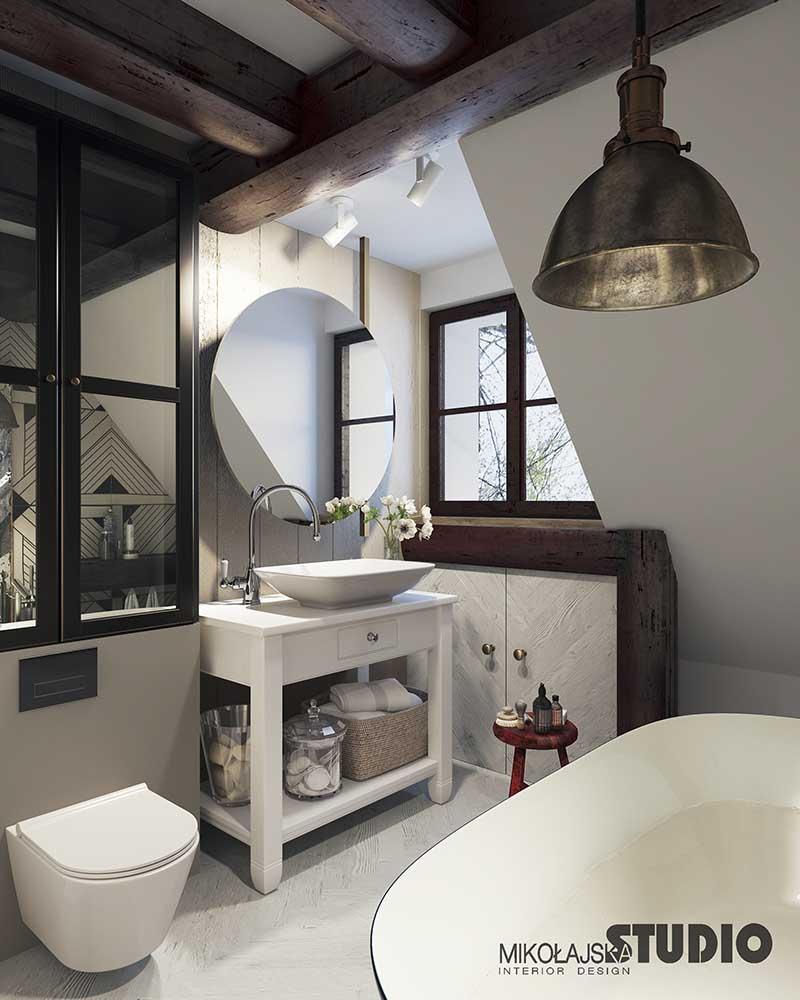 Projekt domu w stylu rustykalnym Mikołajska Studio