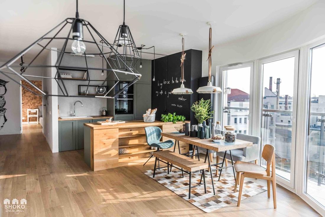 Otwarta kuchnia w projekcie Shoko Design (Fot. Małgorzata Opala – Fotoaktywne)