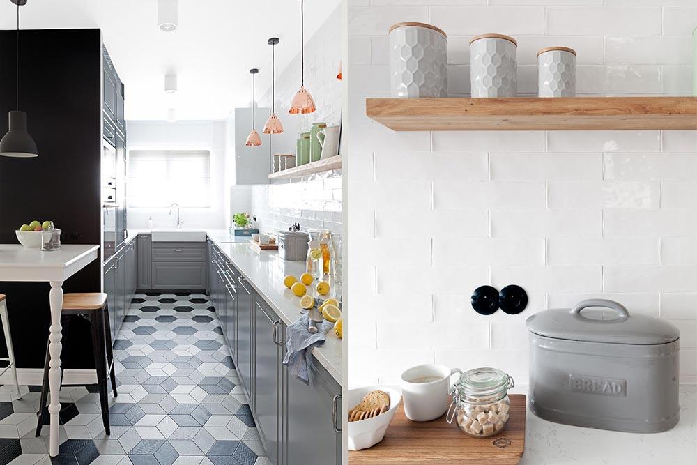 Szara kuchnia w skandynawskim stylu