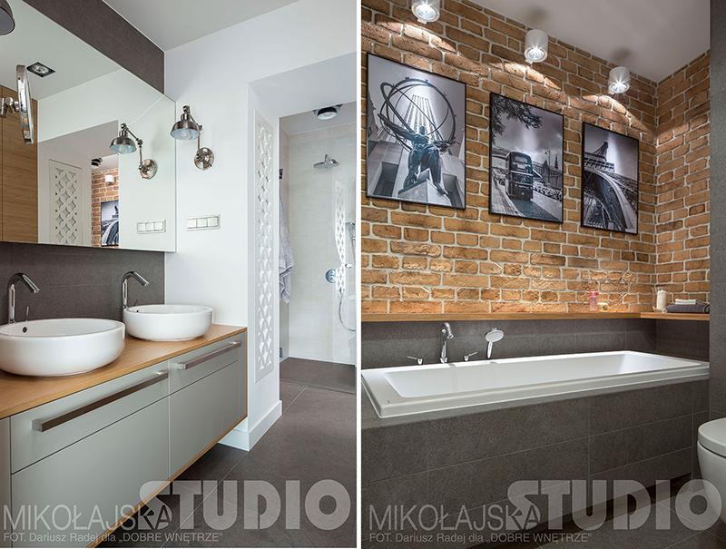 Mała łazienka z wanną | proj. Mikołajska Studio