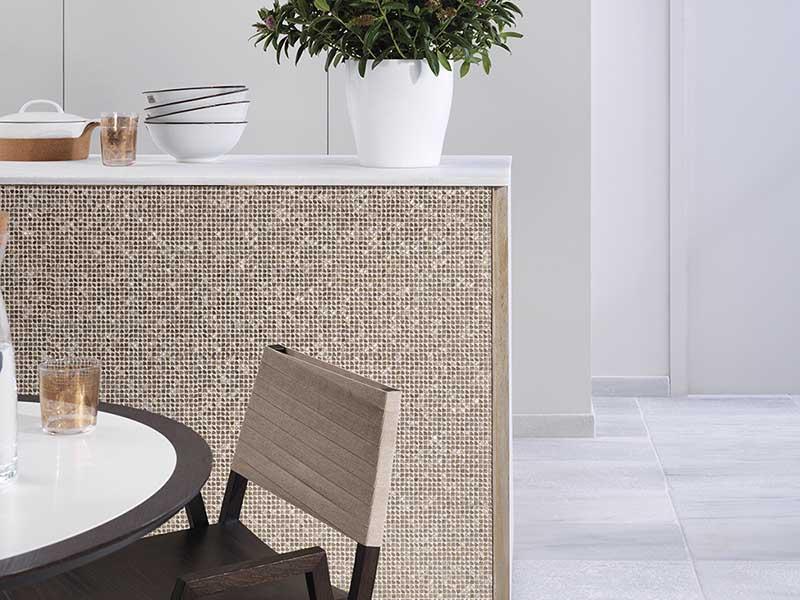 Mozaika na wyspie w kuchni