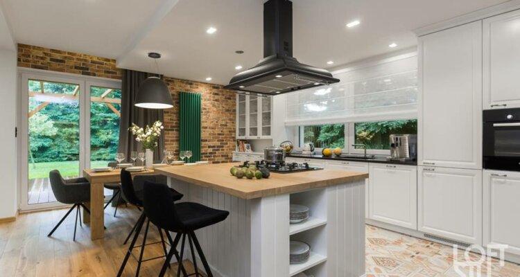 Otwarta kuchnia, projekt: LOFTSTUDIO arch. wnętrz Irena Lang