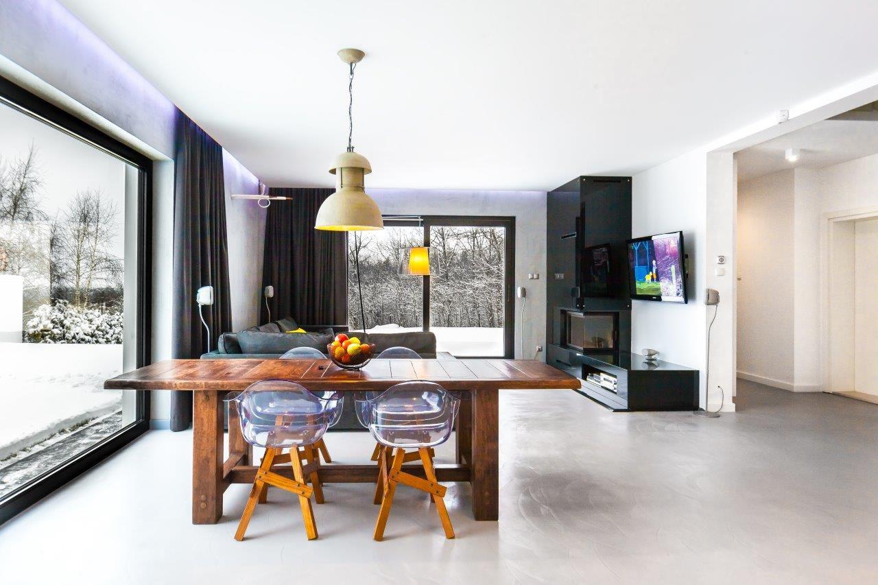 Klimatyczny salon | proj. Coco Pracownia projektowania wnętrz