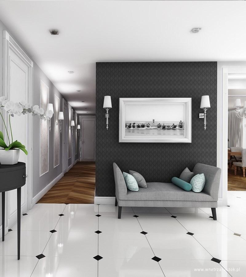 Hol w stylu modern classic | proj. Pracownia Architektoniczna USZOK