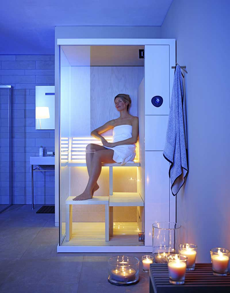 sauna do małej łazienki