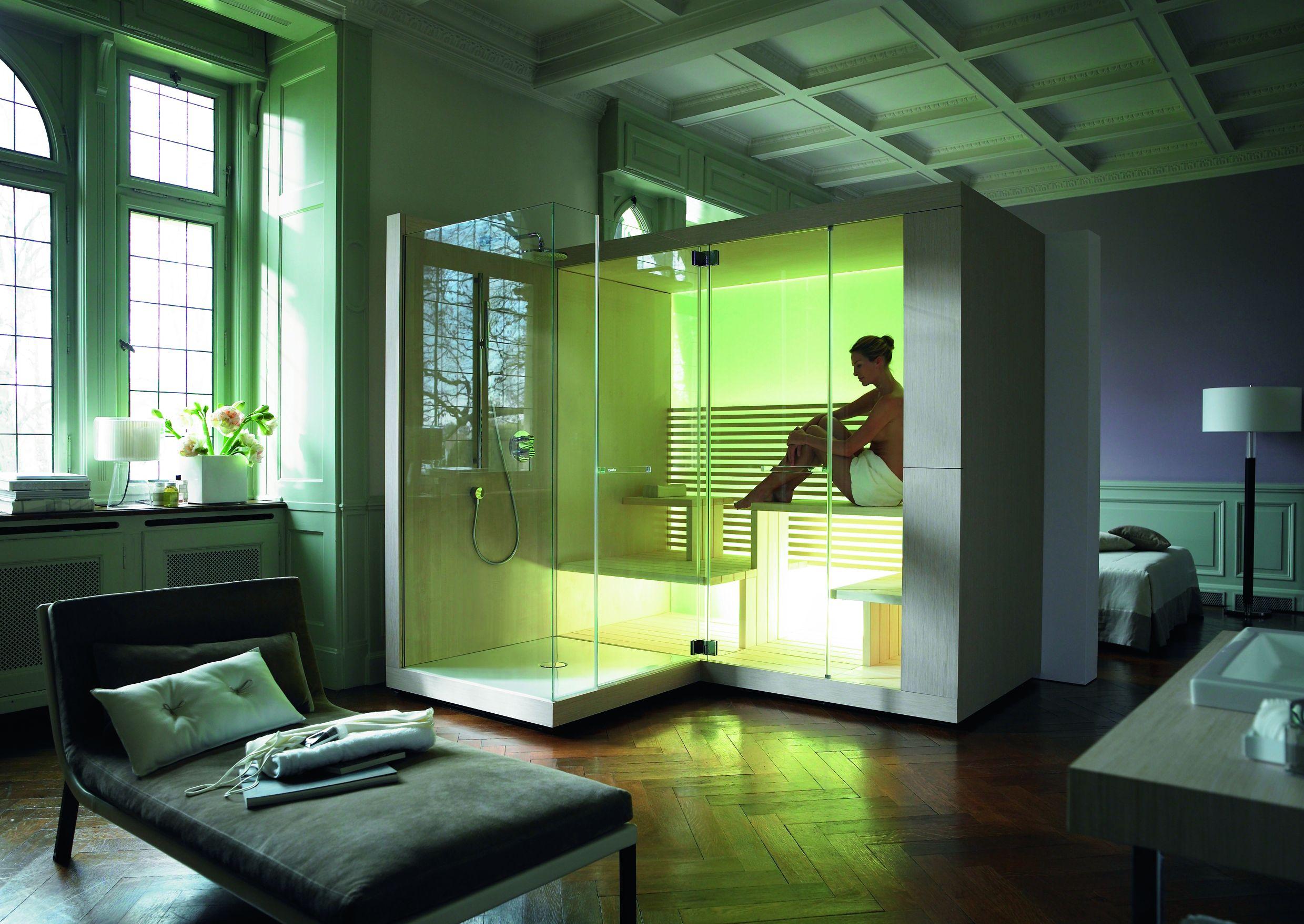 Sauna kompatybilna z prysznicem od Duravira - rozwiązanie dostępne w naszych showroomach!