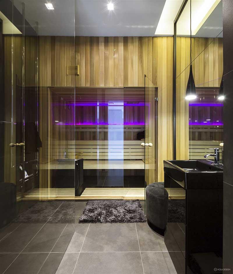 Sauna w domu | proj. Hola Design