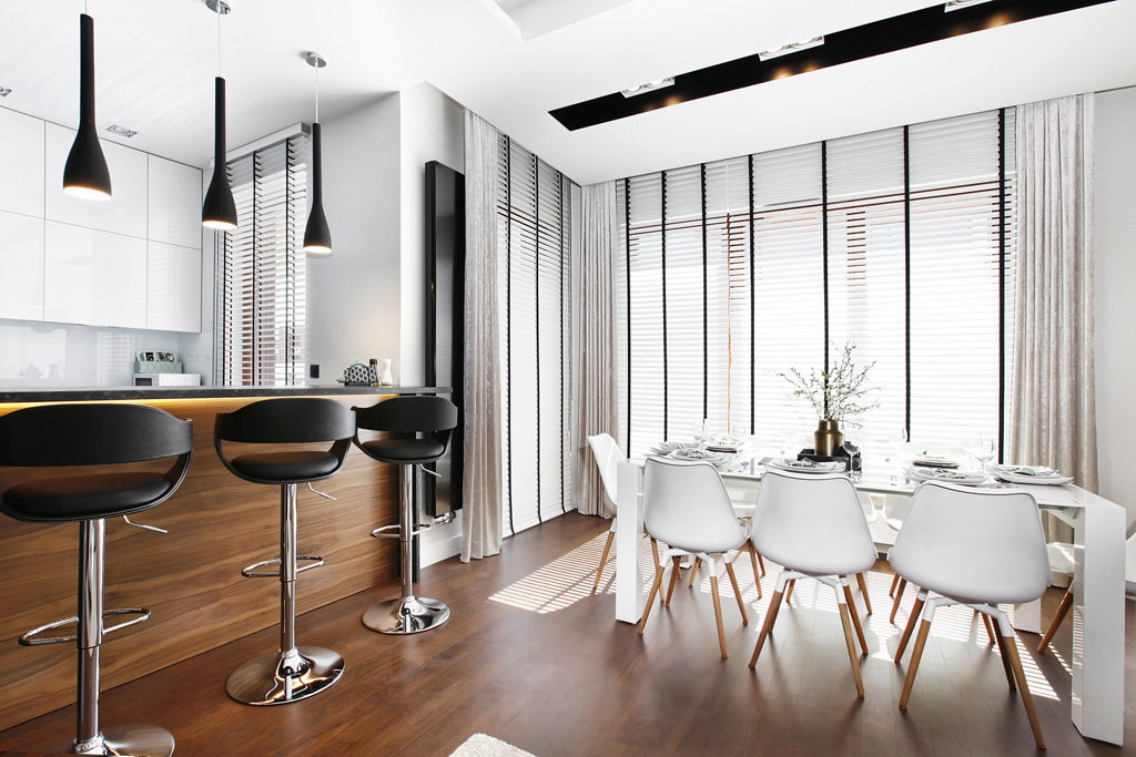 Zadbajcie o odpowiednie oświetlenie kluczowych elementów w kuchni, tj. blat, stół i wyspa (Flow Interiors)