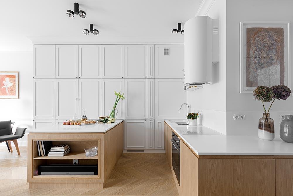 Elegancka aranżacja kuchni | proj. Domagała Design