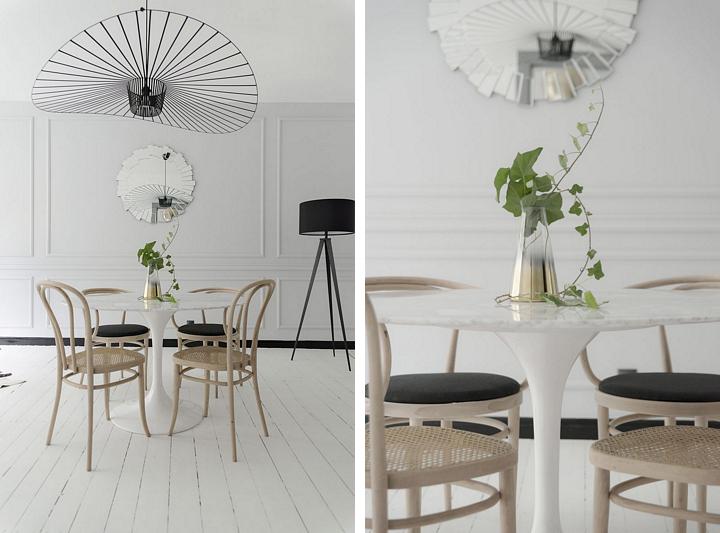 Desigerski akcent w postaci lampy Vertigo Petite Friture w skandynawskim wnętrzu
