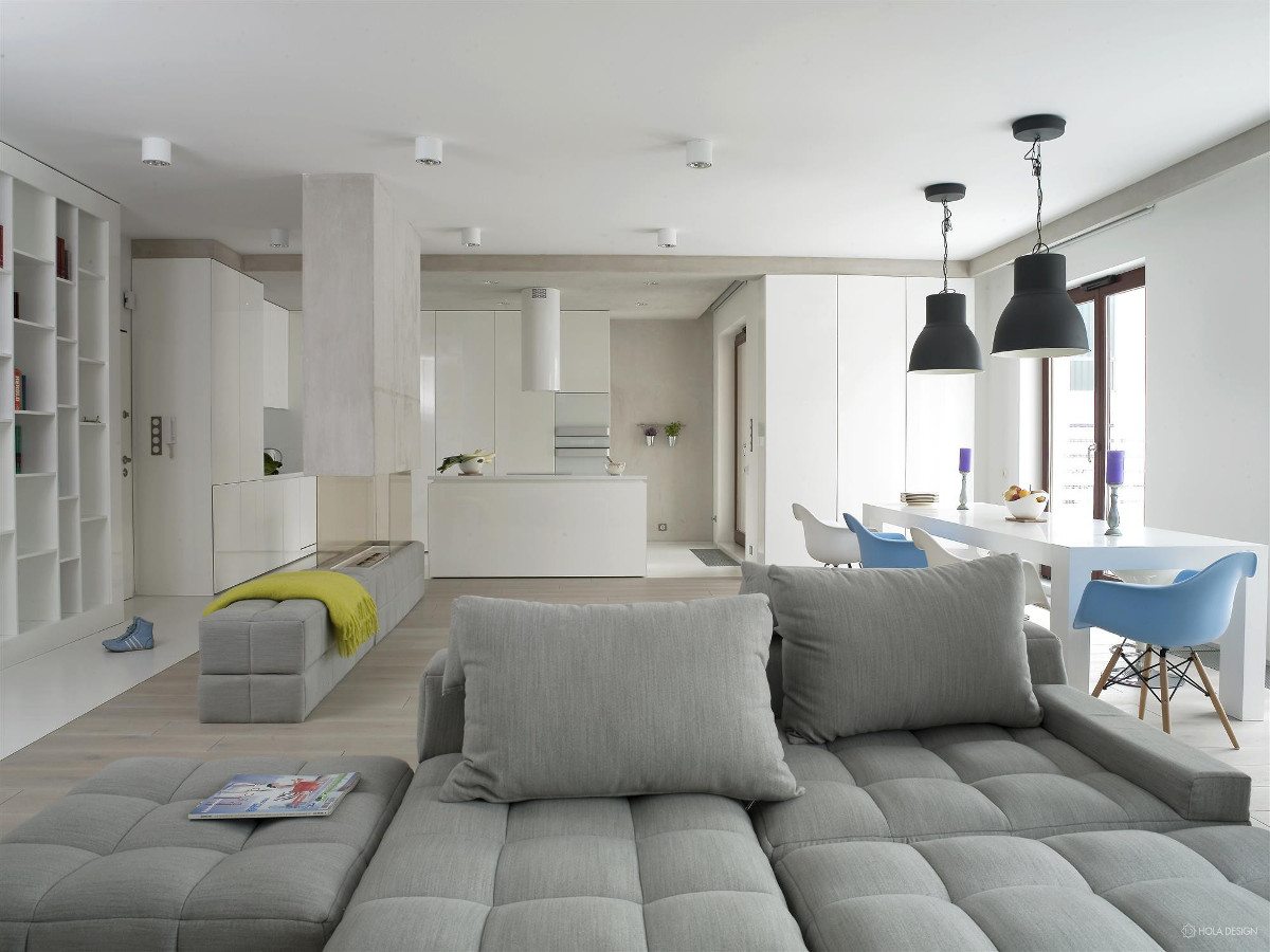 W projekcie nowoczesnego domu znalazło się oświetlenie od AQUAFORM (Hola Design)