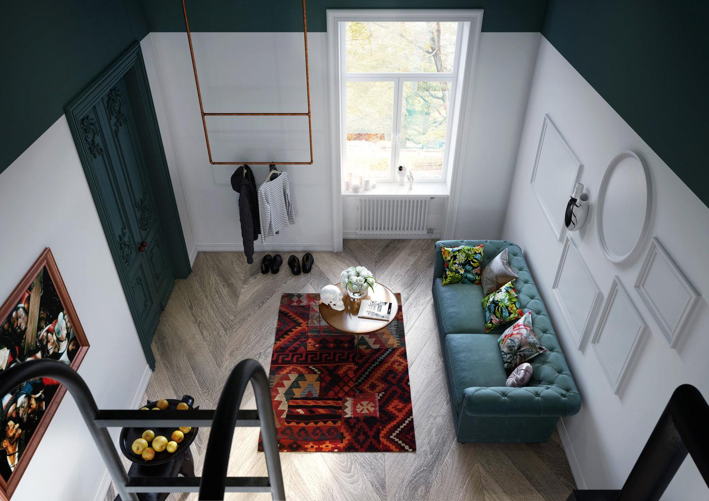 Mieszkanie w kamienicy w Lublinie | proj. Home And Wood