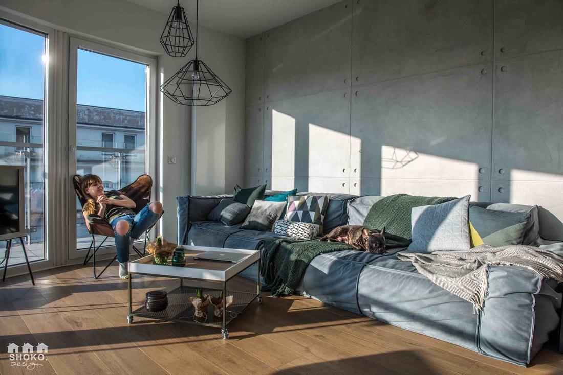 Sofa w całości tapicerowana w projekcie Shoko Design