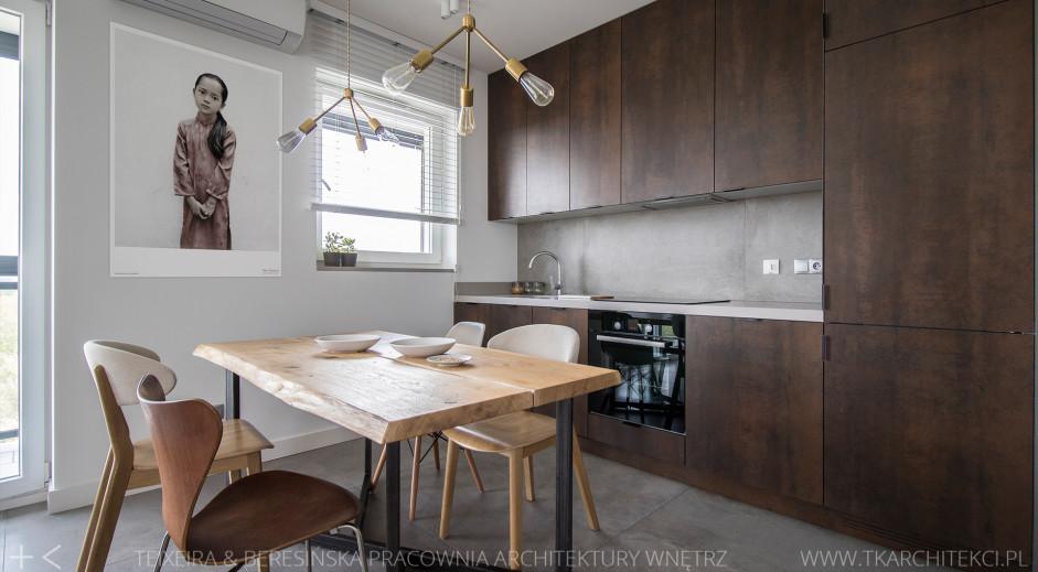 Drewniana kuchnia | proj. TK Architekci