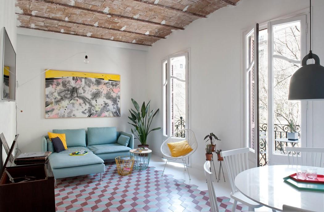 Wzorzyste płytki na podłodze | proj. CASA COLOMBO & SERBOLI ARCHITECTURE