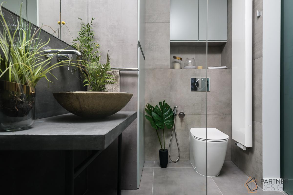 Urban jungle to również duża ilość roślin w mieszkaniu (proj. Partner Design)