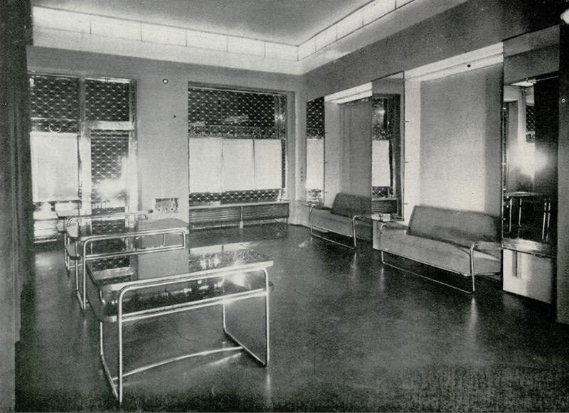 Wnętrze salonu futrzarskiego Arpada Chowańczaka (projekt Zbigniew Puget)