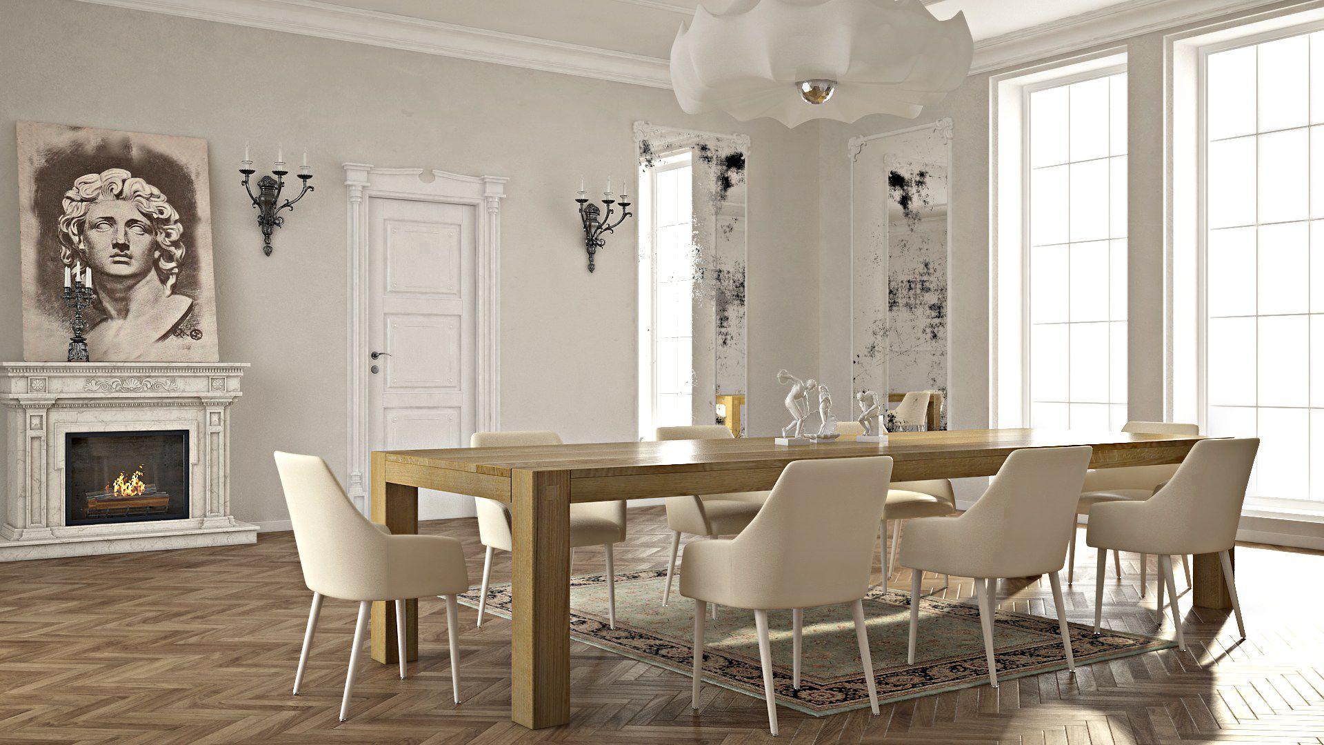 prostokątny stół