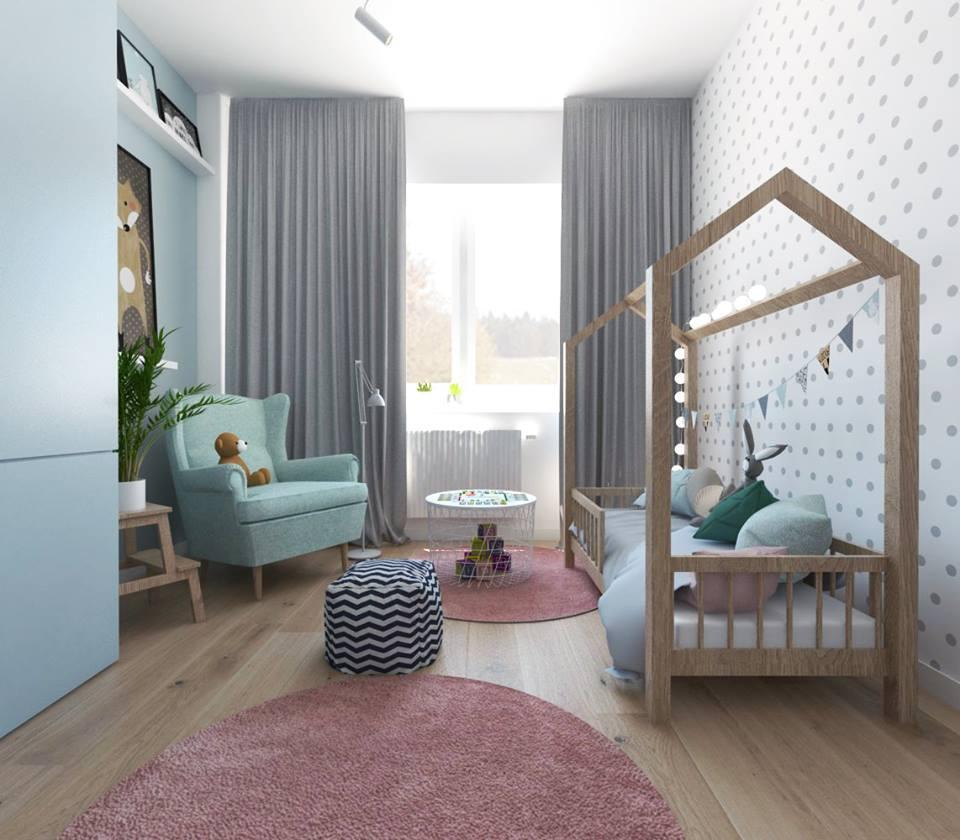 Projekt pokoju dziecięcego Pass Architekci