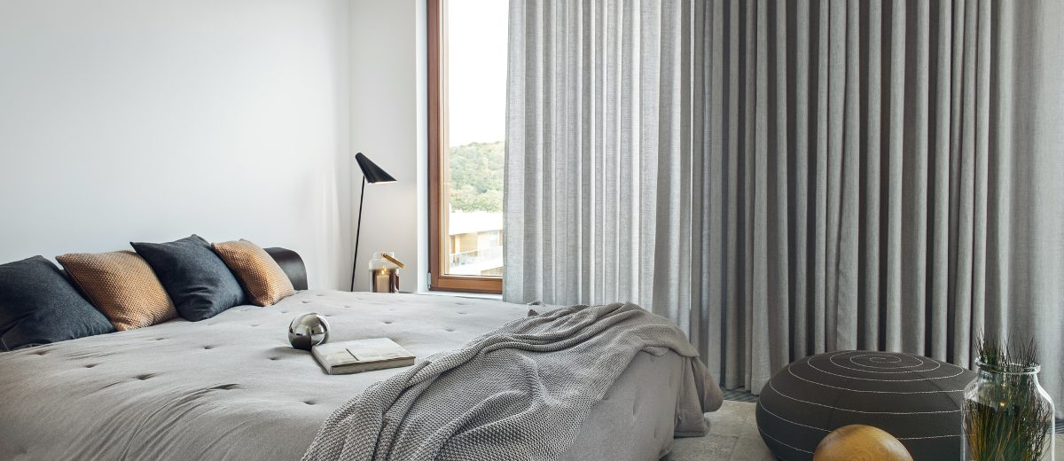 Przytulna sypialnia | proj. LOFT Magdalena Adamus, photo: Tom Kurek