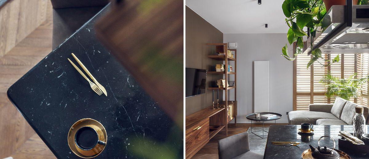 Złote detale w minimalistycznej formie do doskonałe dopełnienie projektu (proj. JT Grupa, photo: Tom Kurek)