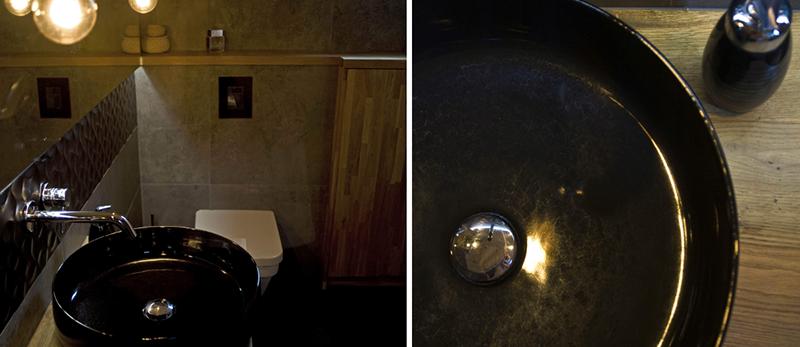 Mroczna łazienka | proj. Miśkiewicz Design