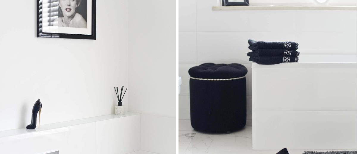 Kobieca łazienka na piętrze | proj. Miśkiewicz Design