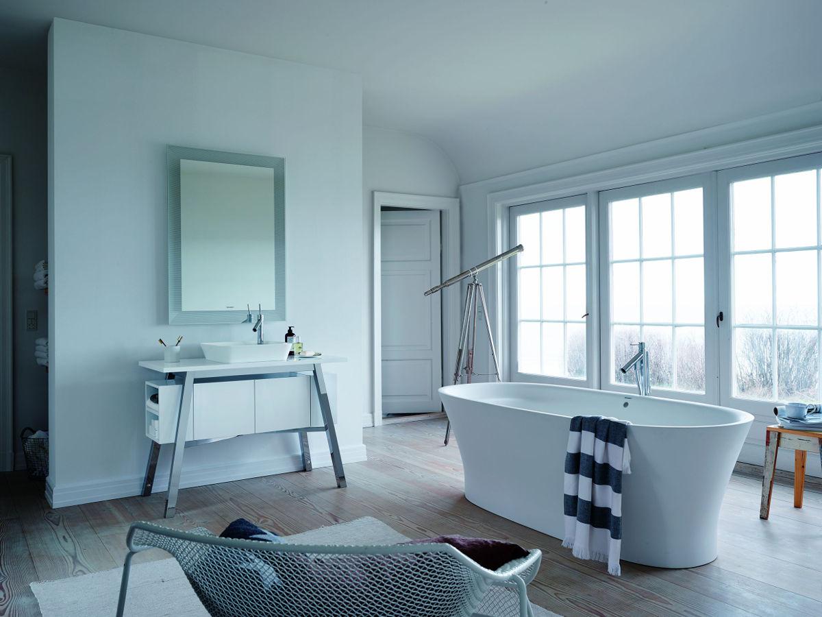Wanna wolno stojąca Cape Cod to dzieło Philippe Starcka dla marki Duravit