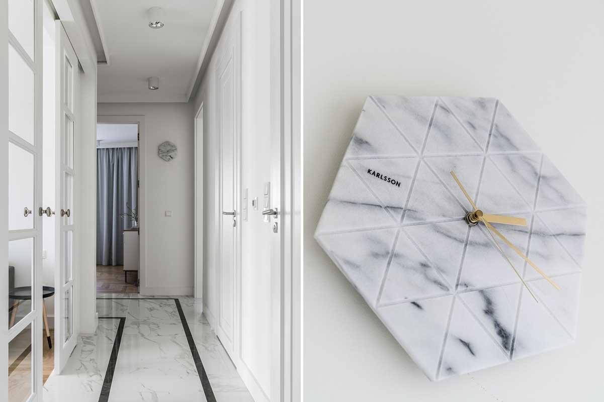Marmurowe detale w projekcie Mana Design