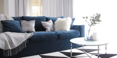 Sofa w modnym wykończeniu