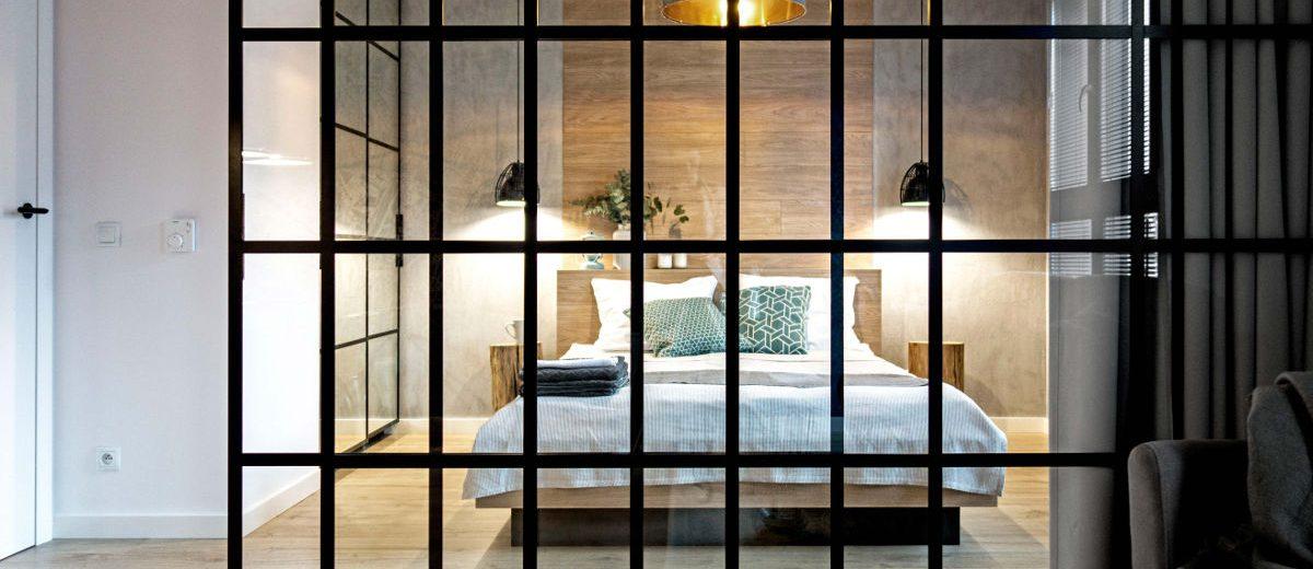 Sypialnia zza szkła