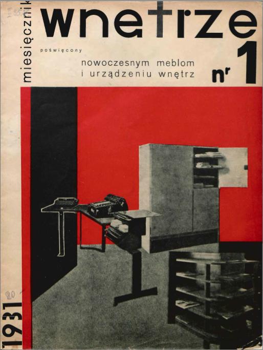 """Okładka miesięcznika """"Wnętrze"""" 1931/1"""