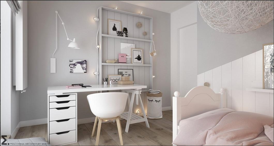 Pokój dla dziewczynki projekt Elementy
