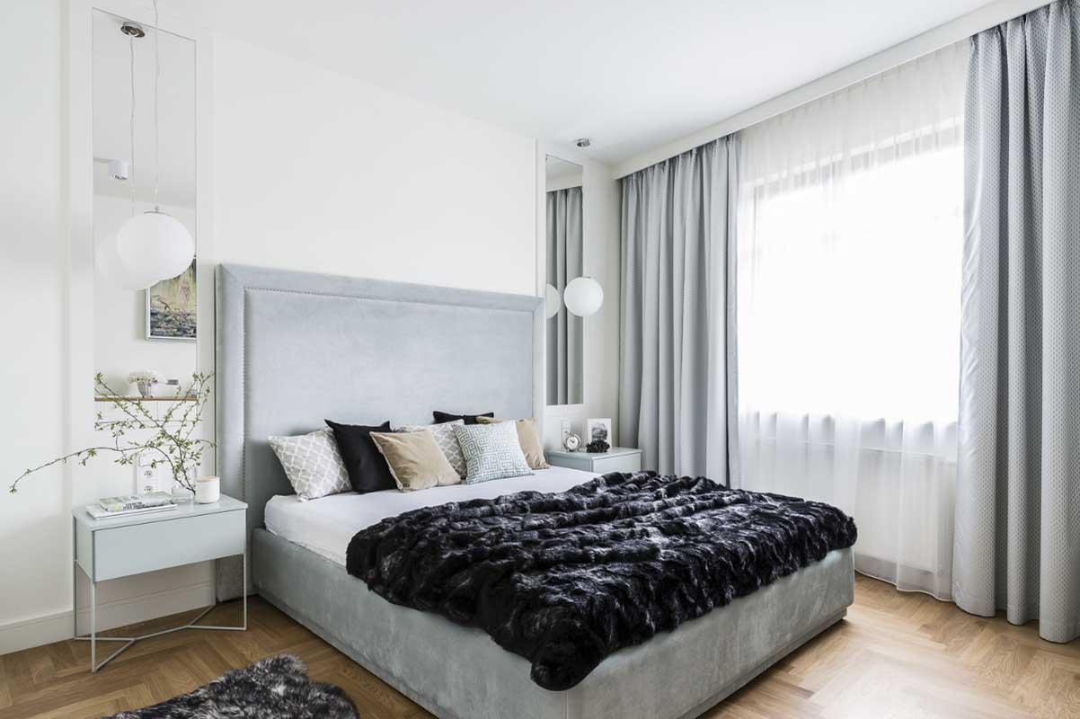 Aranżacja sypialni, proj. Mana Design